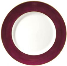 Richard Ginori Charger Plate Purple with Gold Rim